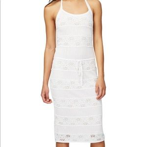 Rachel Roy white and nude dress